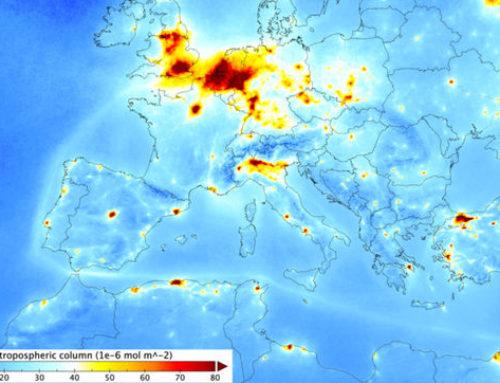La contaminación del aire en las ciudades españolas vista por el satélite europeo Sentinel-5p
